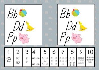 Alphabet Desk/ Play Dough Mats - Everything Fine Motor
