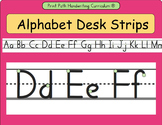 Alphabet Desk Strips: Handwriting Without Tears -formation style