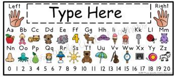 Alphabet Desk Strips (Editable)