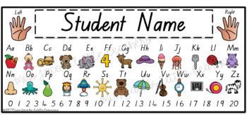 QLD Beginners Font Alphabet Desk Strips