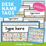 Desk Name Tags with Alphabet and Number Line
