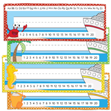 Alphabet Desk Strips with Number Line - Beach / Cruise Ship Theme - Name Plate