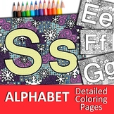 Alphabet Detailed Coloring Pages