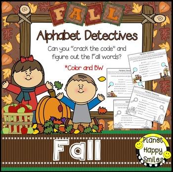 Alphabet Detectives ~ Fall Crack the Code