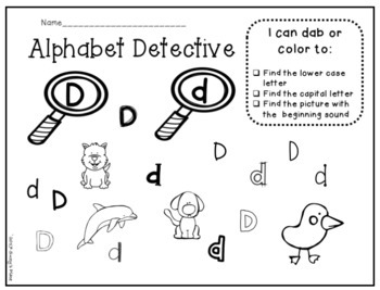 Back to School Alphabet Detectives Letter and sound recognition