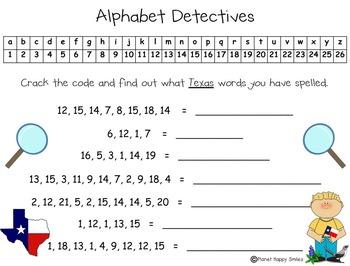 Alphabet Detectives ~ Texas and Cowboy Crack the Code