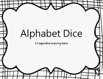 Alphabet Dice Game for Practicing Phonics and Spelling