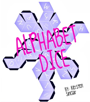 Alphabet Dice Purple