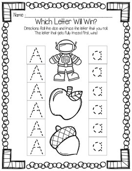 Which Letter Will Win?  Alphabet Handwriting Practice