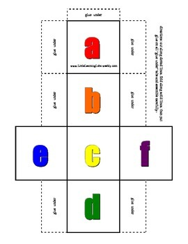 Alphabet Dice Set lower case in color & black & white primary prek