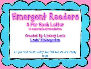 Alphabet Differentiated Emergent Readers