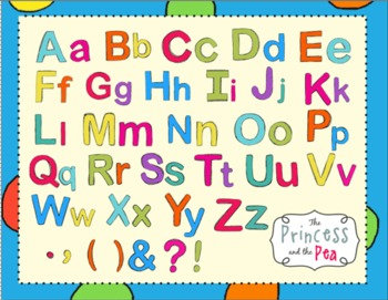 Clip Art: Alphabet in Fun Fiesta Colors