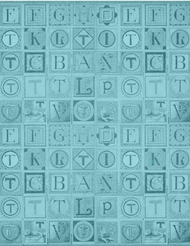 Alphabet Digital Papers  - retro - 300 dpi 12x12