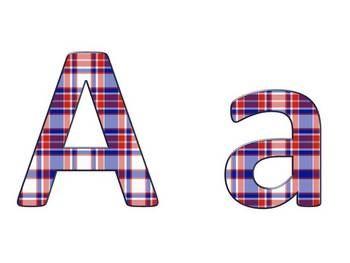 Alphabet & Digits for Bulletin Boards & TPT Products -American Plaid