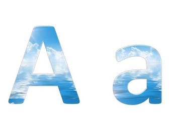 Alphabet & Digits for Bulletin Boards & TPT Products -Blue Sky & Water