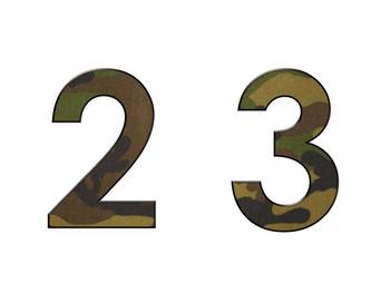 Alphabet & Digits for Bulletin Boards & TPT Products -Camo
