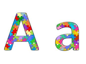 Alphabet & Digits for Bulletin Boards & TPT Products -Puzzle Pieces