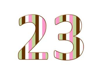 Alphabet & Digits for Bulletin Boards & TPT Products -Spring Stripes