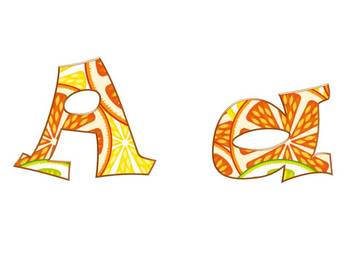 Alphabet & Digits for Bulletin Boards & TPT Products -Summer Sunshine