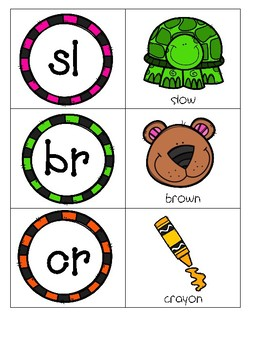 Alphabet, Digraph, and Blends Matching Cards-Freebie!