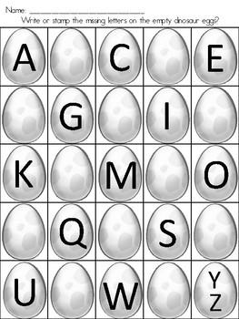 Alphabet Dinosaur Eggs