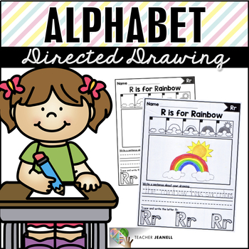 Alphabet Directed Drawing - Draw, Write, and Trace