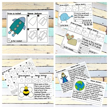 Alphabet Directed Drawing Bundle - 53 included | Distance Learning