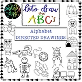 Alphabet Directed Drawing Pack- Lets draw the ABCs!