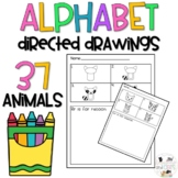 Alphabet Directed Drawings for students