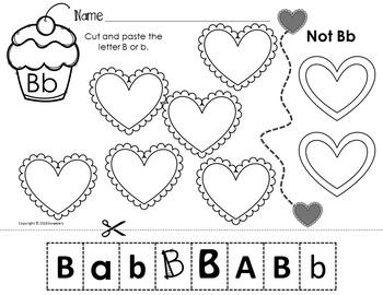 Alphabet Discrimination Activities - Valentine Heart Theme