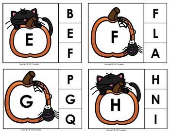 Alphabet Discrimination Activities - Halloween Pumpkin Theme