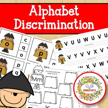 Alphabet Discrimination Activities - Pirate Theme