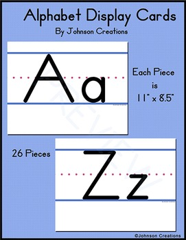 Alphabet Display Cards