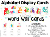 Alphabet Display Cards & Editable Word Wall Cards