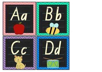 Alphabet Display Cards Small