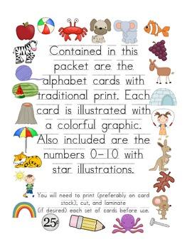 Alphabet Display Cards - Traditional Print
