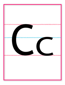 Alphabet Letter Posters / Classroom Wall Display for Bulletin Boards!