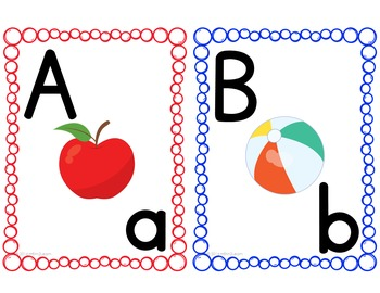 Alphabet Display Learning Letters and Sounds Kindergarten Pre-K