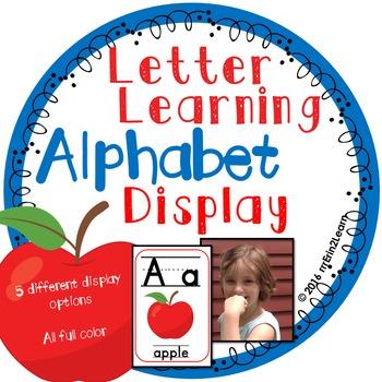 Alphabet Display Learning Letters and Sounds Kindergarten Pre-K