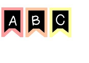 Alphabet Display Letters Rainbow Bunting