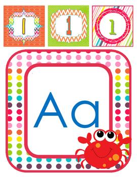 Alphabet Display- Ocean Theme