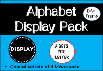 Alphabet Display Pack (Black and White frames)