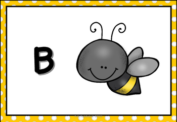 Alphabet Display Pack ( Yellow Dots )