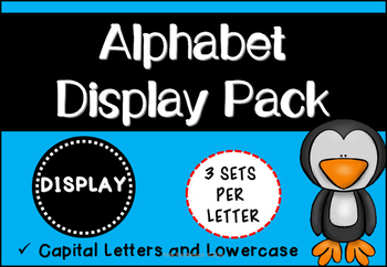 Alphabet Display Pack ( Yellow Dots )