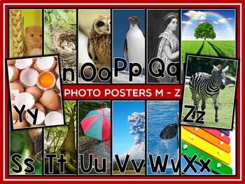 Alphabet Display Photo Posters {UK Teaching Resources}