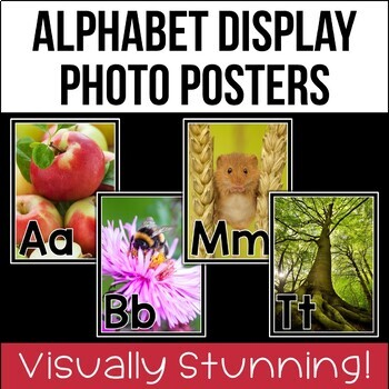 Alphabet Display Photo Posters {UK Teaching Resources}