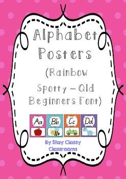 Alphabet Display Posters ~ Rainbow Spotty