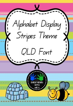 Alphabet Display Posters - Stripes Theme