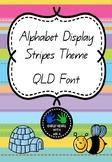 Alphabet Display Posters - Stripes Theme