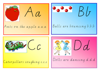 Alphabet Display Vic Modern Cursive